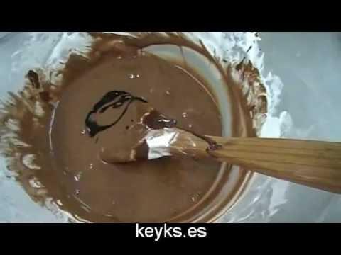 Curso básico fondant: Fondant de chocolate. chocolate MMF