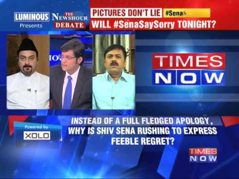 The Newshour Debate: Will Shiv Sena Say Sorry - Part 1 (23rd July 2014)