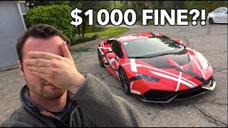 $1000 FINE FOR LOUD EXHAUST?! *NEW LAW?*