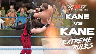 WWE 2K17 Kane vs Kane '98 | EXTREME RULES Full Match PS4 Gameplay