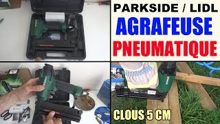 agrafeuse pneumatique air comprime parkside lidl pdt 40 d3 - pneumatic stapler - druckluft-tacker