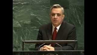 Armenian FM speach at the UN - Holocaust & Armenian Genocide 1 24 2005