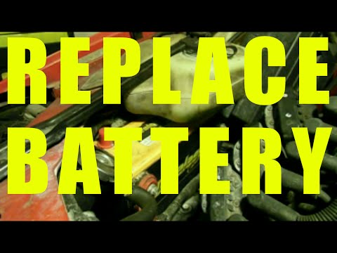 Car BATTERY REPLACEMENT on GM cars Buick Chevy Pontiac Grand Prix 3800 engine