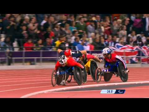 David Weir Wins His Third Gold Medal of London 2012 Paralympics - 800m T54 Race