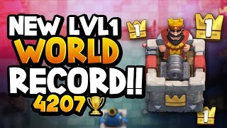 NEW Lvl 1 WORLD RECORD! 4207 Trophies. GAME OVER!