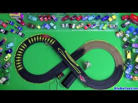 Cars 2 London City Raceway Slot Car Racing Track Speedway McQueen VS. Francesco Disney Pixar