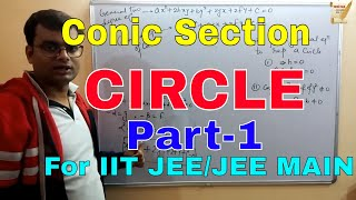 Conic Section--Circle|For IIT JEE/JEE MAIN|Part-1|By-Ajit sharma sir(Ex faculty FIITJEE,Super 100).