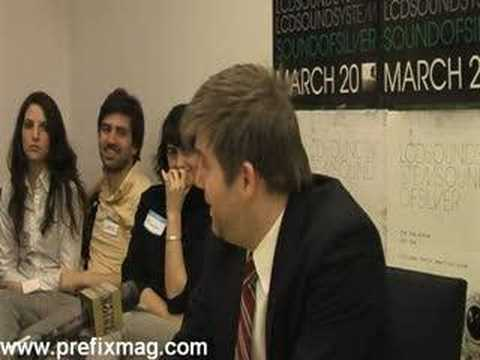 "LCD Soundsystem - ""Backlash"" Press Conference (Part 2 of 6)"
