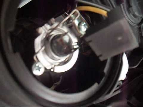 Led Headlight Bulb >> head light replacement 2006 Hyundai Sonata GLS V6 - YouTube