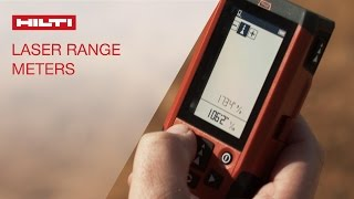 Hilti laser range meters PD 5, PD-I and PD-E