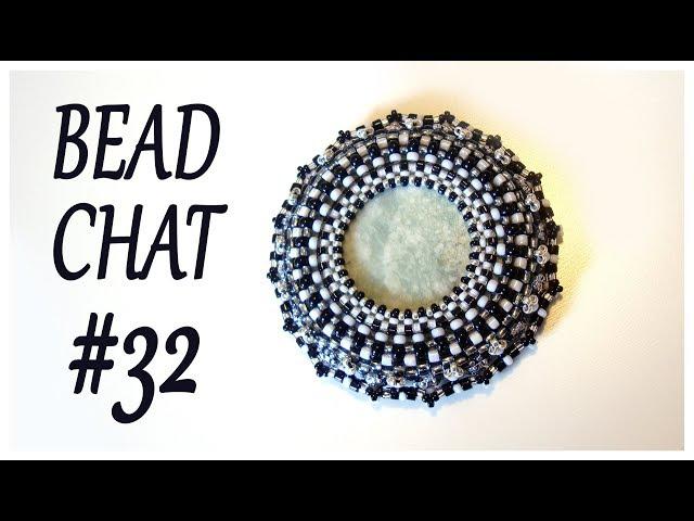 Bead Chat #032 - Beaded pendant - Peyote stitch - RAW - Handmade necklace