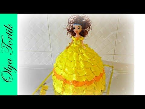 Кремовый ТОРТ ПРИНЦЕССА БЕЛЬ Сборка и украшение торта