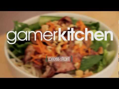 Vietnamese BBQ Pork w/ Rice Noodle Salad – Episode 11 – GamerKitchen