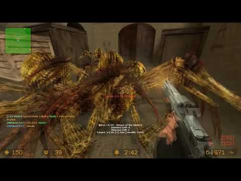 Counter Strike Source Spider Zombie Boss Fight on Dust 1