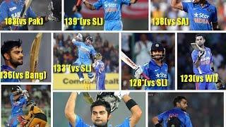 Top 10 ODI best scores of virat kohli