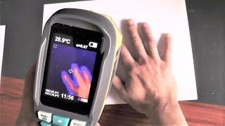Тепловизор  Kkmoon Обзор и тест тепловой камеры.Thermometer Handheld Thermal Imaging Camera