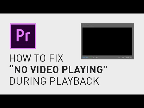 How to fix black screen - Premiere Pro