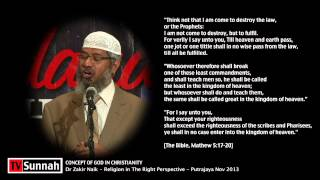 Concept of God in Christianity - Dr Zakir Naik
