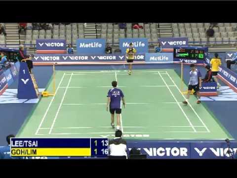 R16 - MD - Goh V S. / Lim K.W. vs Lee S.M. / Tsai C.H. - 2014 Korea Badminton Open (F G3 8-8)