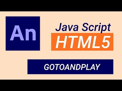Adobe Animate CC 2021 TUTORIAL - gotoAndPlay ( JavaScript in HTML5 document )