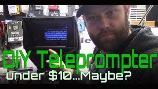 DIY Cheap Tripod Teleprompter under $10 dollars Build & Testing