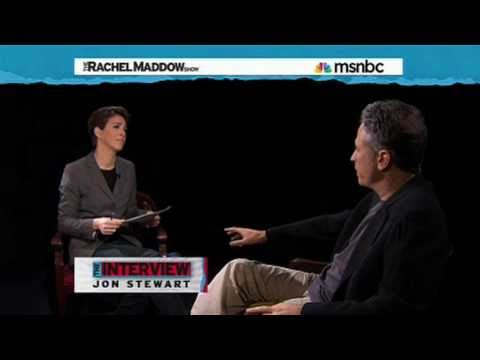 Rachel Maddow Interviews Jon Stewart (Part 1/4)