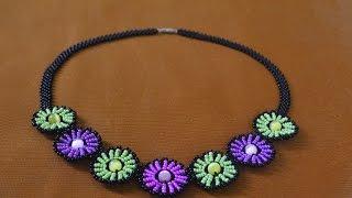 """Колье из бисера """"Нинель"""".   Мастер класс / Necklaces of beads. Beading"""