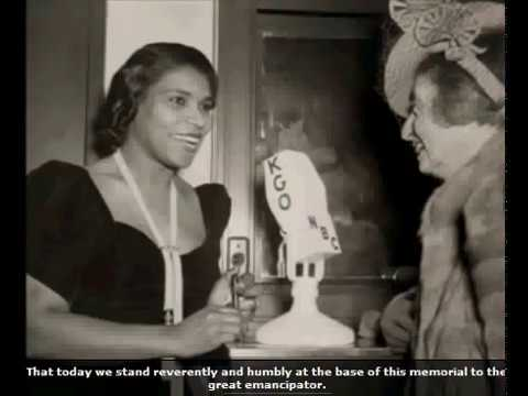 Marian Anderson 1939 Lincoln Memorial Speech and Song Video