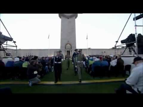Dawn Service Villers Bretonneuz, France  - ANZAC Day 2013