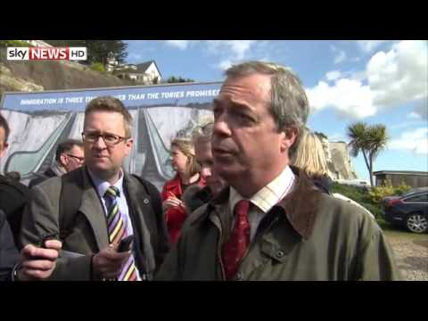 Nigel Farage Attacks David Cameron Over Immigration - 31/03/2015
