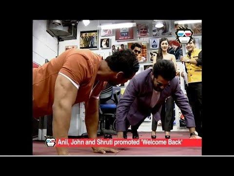 Anil Kapoor beats John Abraham in push ups during 'Welcome Back' promotion
