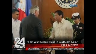 24 Oras: Pangulong Duterte at U.S. Sec. of State Rex Tillerson, nagpulong