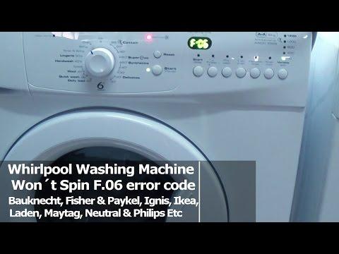 whirlpool washing machine f11 error code
