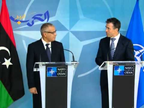 The Prime Minister of Libya, Mr. Ali Zeidan Mohamed, visits NATO Headquarters