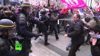 Video: Police tear gas anti-gay marriage protesters in Paris