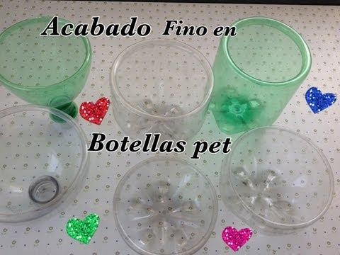 ACABADO FINO EN  BOTELLAS PET .