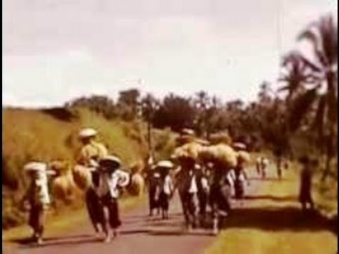 Ubud, Bali, Indonesia 1937 In Colour - Tempo Doeloe video