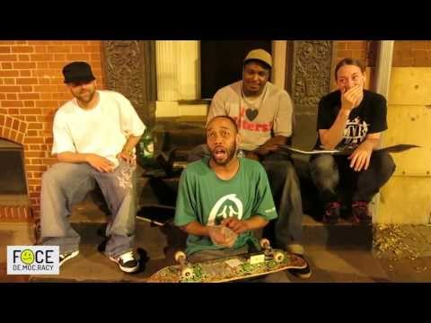 Face De.moc.racy- Shawn Green of Green Leaf Skateboards says skating and Barack go together