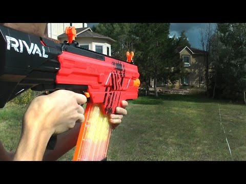 Nerf Rival Khaos MXVI-4000 Review and Shooting
