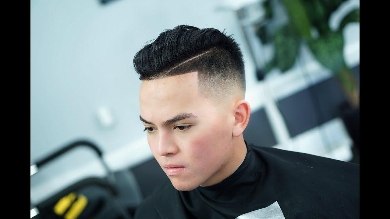Part fade haircut