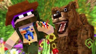 SURVIVING ONE WEEK IN THE WOODS !? - Minecraft Friends (Minecraft Roleplay)