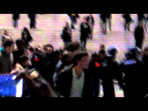 Paris, France, French Riot Police Break up, Occupy La Defense Camp, MVI_4813.MOV