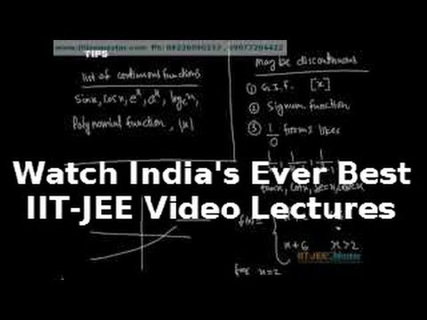 Iit Jee Maths Video Lectures, Theory Function Limits Continuity video