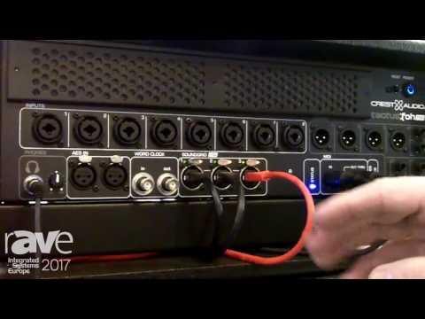 ISE 2017: Peavey Commercial Audio Explains Tactus Digital Mixing System