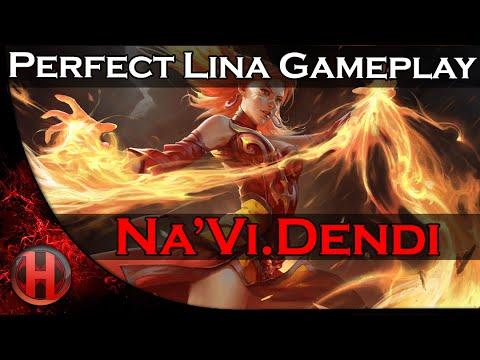 Na'Vi.Dendi Perfect Lina Gameplay Dota 2