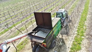Wineyards Digestate Distribution | Black Same Frutteto 3 - 100 + Scania 460 + Fendt 312