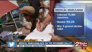 Medical Marijuana not on the ballot for Nov