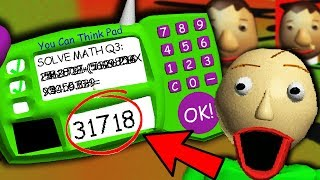 THE *REAL* ANSWER TO BALDI'S IMPOSSIBLE QUESTION?!   Baldi's Basics Gameplay