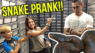KIDS PRANK MY BROTHER WITH SNAKES!!! **GONE WRONG**