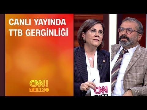 Canlı yayında Türk Tabipleri Birliği gerginliği